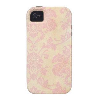 Vintage Pink Damask iPhone 4/4S Case