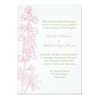 Vintage Pink Floral Wedding Invitations