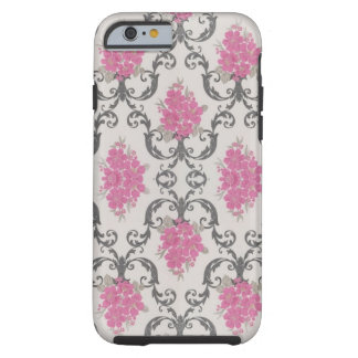 Vintage Pink Flowers Wallpaper iPhone 6 case