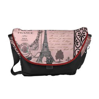 Vintage Pink Paris Collage bag Commuter Bags
