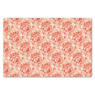 Vintage Pink Peonies Tissue Paper