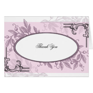 Vintage Pink Purple Floral Business Card