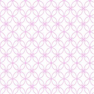 Vintage pink  quatrefoil trellis pattern standing photo sculpture