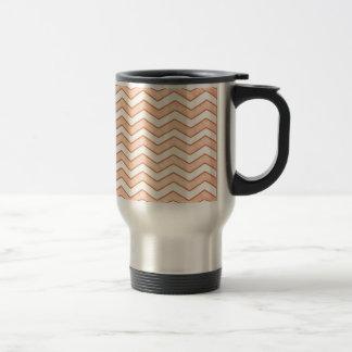 Vintage Pink. Retro Chevron Pattern Coffee Mugs