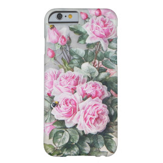 Vintage Pink Roses Bouquet Barely There iPhone 6 Case