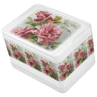 Vintage Pink Roses Bouquet Chilly Bin