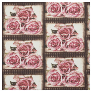 Vintage Pink Roses Fabric