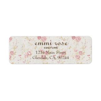 Vintage Pink Tiny Rose Print Return Address Label