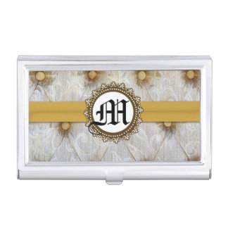 Vintage Pintuck Fabric Monogram Business Card Hold Business Card Holders