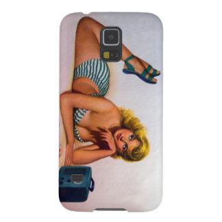 Vintage Pinup Girl Original Coloring 2 Galaxy S5 Cover