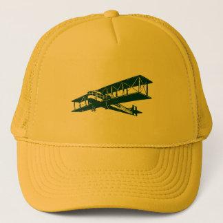 Vintage Plane - Dark Green Trucker Hat