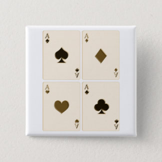 Vintage Playing Cards 15 Cm Square Badge