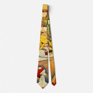 Vintage Pointillism Fine Art, The Circus by Seurat Tie