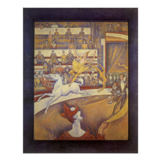 Vintage Pointillism, The Circus by Georges Seurat Poster