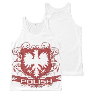 Vintage Polish Eagle Crest All-Over Print Singlet
