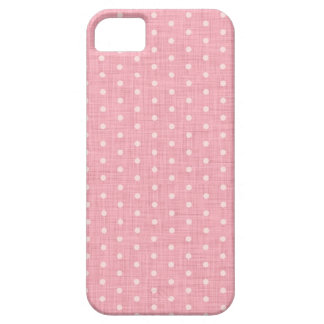 Vintage Polka dot fabric texture pattern iPhone 5 Carcasas