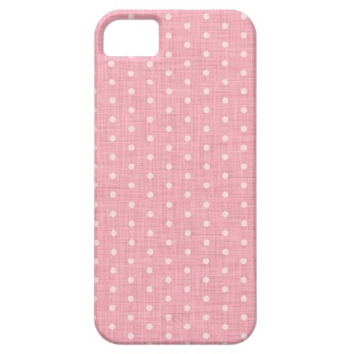 Vintage Polka dot fabric texture pattern iPhone 5 Cover