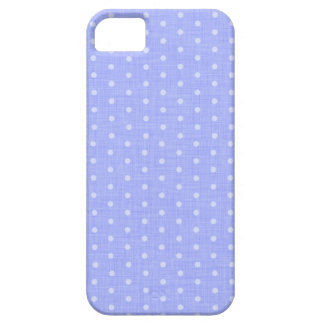 Vintage Polka dot fabric texture pattern in blue iPhone 5 Fundas
