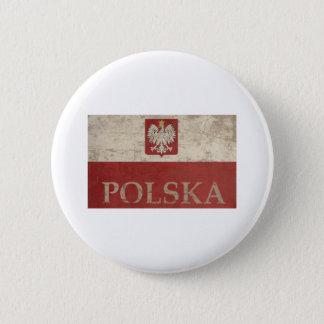 Vintage Polska 6 Cm Round Badge