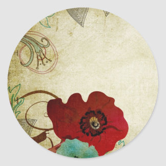 Vintage poppies Sticker