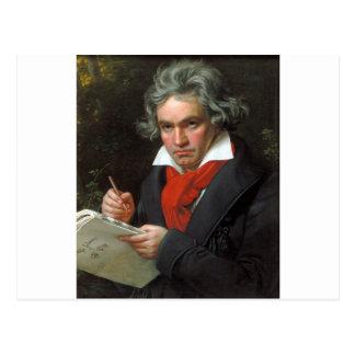 Vintage portrait of composer, Ludwig von Beethoven Postcard