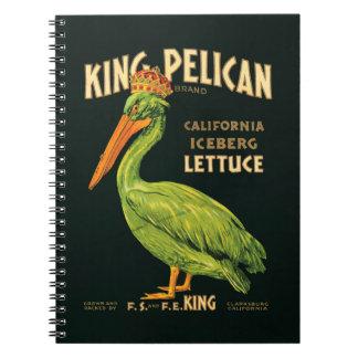 Vintage poster King Pelican Iceberg Lettuce Notebooks