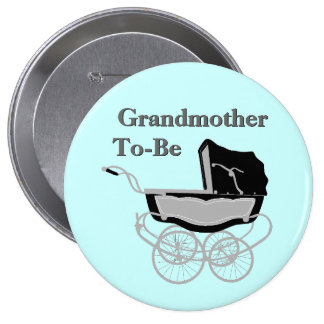 Vintage Pram Grandmother's Baby Shower Button