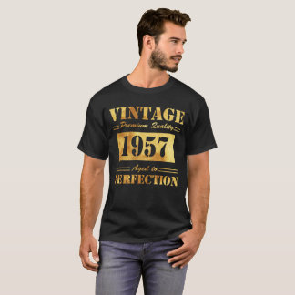 Vintage Premium Quality 1957 Aged To Perfection T-Shirt