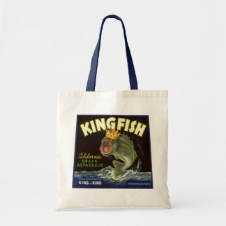 Vintage Product Can Label Art, Kingfish Asparagus Tote Bag