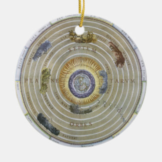 Vintage Ptolemaic Planisphere by Andreas Cellarius Christmas Ornament