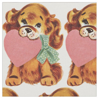 Vintage Puppy Fabric