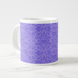 Vintage Purple Awareness Floral Jumbo Mugs