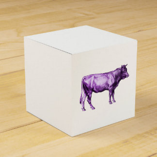 Vintage Purple Cow Bull Gift Box
