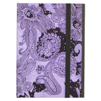 Vintage Purple Floral Fabric iPad Air Cover