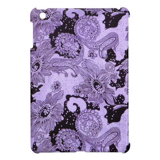 Vintage Purple Floral Fabric iPad Mini Cases