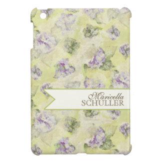Vintage Purple Hydrangea French Wallpaper Floral iPad Mini Cover