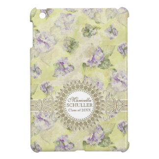 Vintage Purple Hydrangea French Wallpaper Floral iPad Mini Case