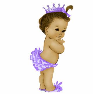 Vintage Purple Princess Baby Girl Shower Standing Photo Sculpture