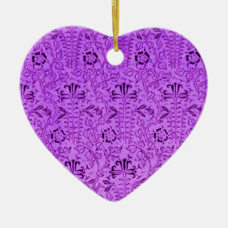 Vintage Purple Red Floral Ornament