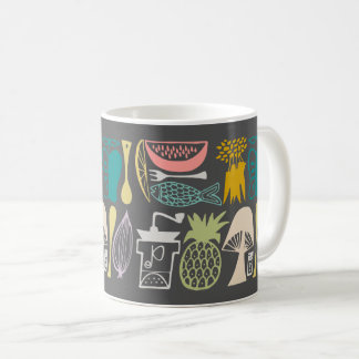 Vintage Pyrex Pattern - Mod Kitchen (1950s Coffee Mug