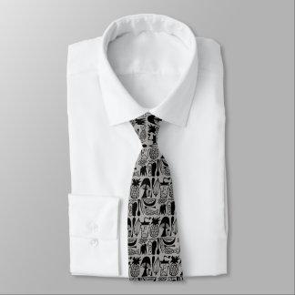Vintage Pyrex Pattern - Mod Kitchen (Black) Tie