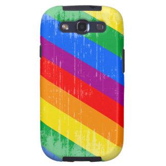 Vintage Rainbow Stripes Samsung Galaxy SIII Cover