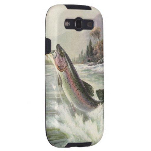 Vintage Rainbow Trout  Fish Fisherman Fishing Samsung Galaxy SIII Case