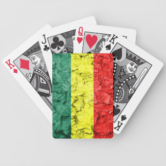 Vintage rasta flag bicycle playing cards