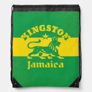 Vintage Rastafarian Kingston Jamaica Drawstring Bag