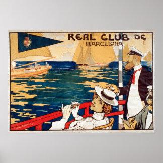 Vintage Real Club de Barcelona Sailing Poster