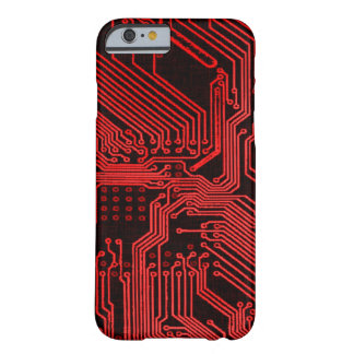 Vintage Red Alien Phantom Circuit Board Design Barely There iPhone 6 Case