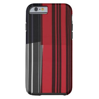 Vintage Red Black White Stripes Art Pattern Tough iPhone 6 Case