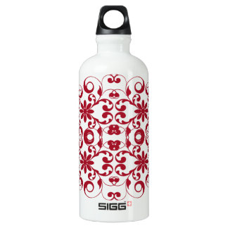 Vintage red floral shabby and chic pattern SIGG traveller 0.6L water bottle