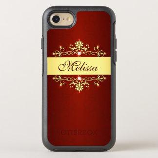 Vintage Red Gold Elegant Antique Floral OtterBox Symmetry iPhone 8/7 Case